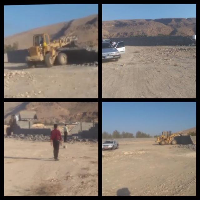 جهاد کشاورزی شهرستان اوز از تخریب ساخت و ساز غیرمجاز در بخش بیدشهر خبر داد