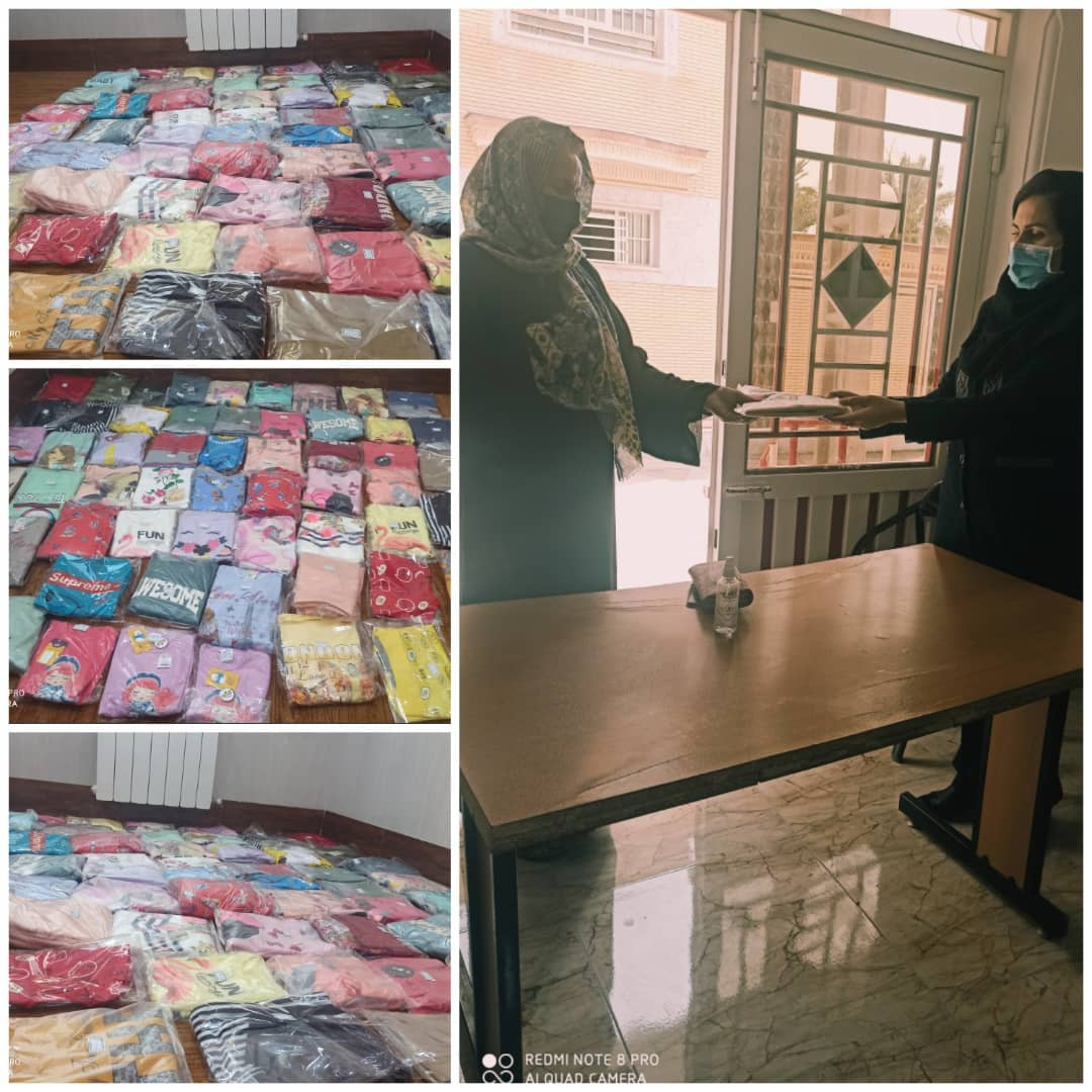 توزیع پوشاک بین کودکان تحت پوشش اداره ی بهزیستی اوز